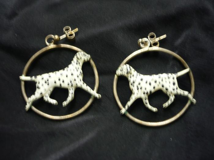 Dalmatian Earings